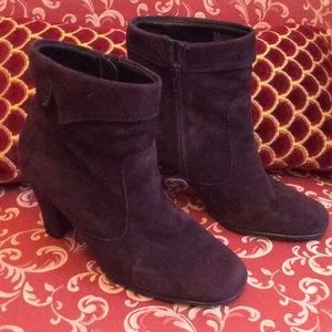 Aero soles purple suede booties
